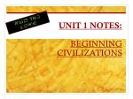 unit 1 notes beginning civilizations