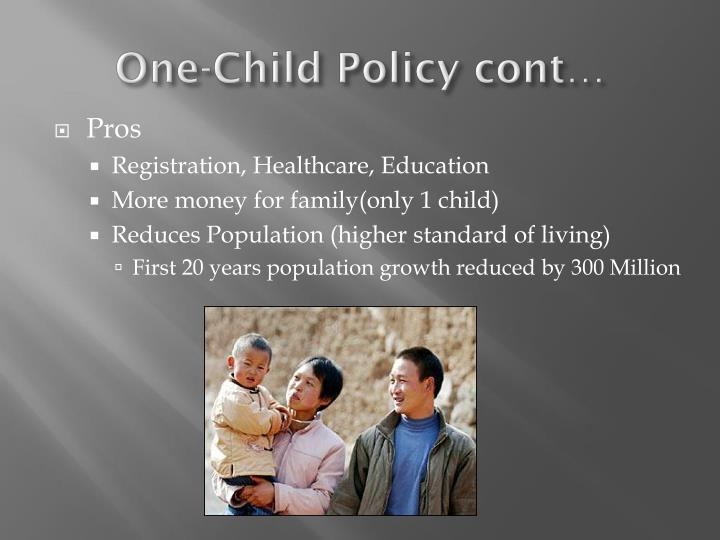 One-Child Policy cont…