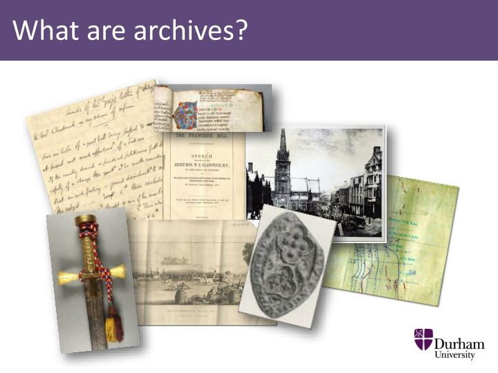 What are archives