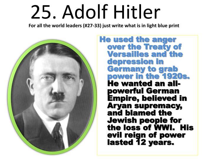 25. Adolf Hitler