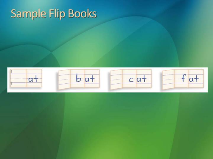Sample Flip Books