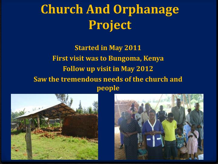 Church and orphanage project