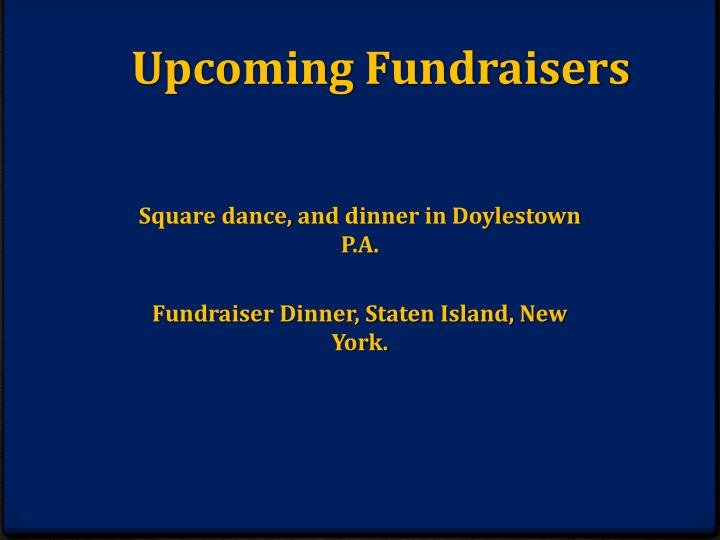 Upcoming Fundraisers