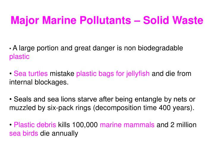 Major Marine Pollutants – Solid Waste