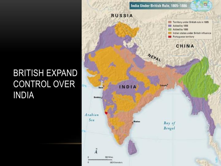 British Expand Control Over India