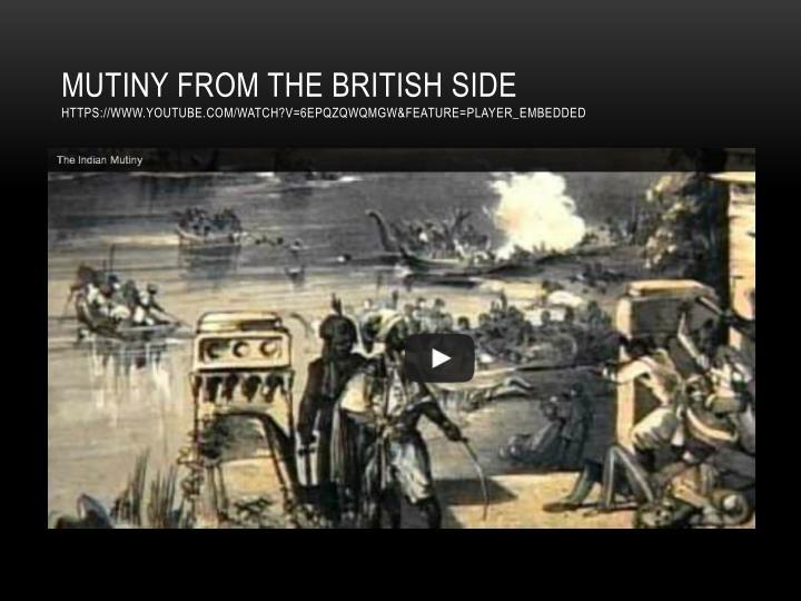 Mutiny from the British
