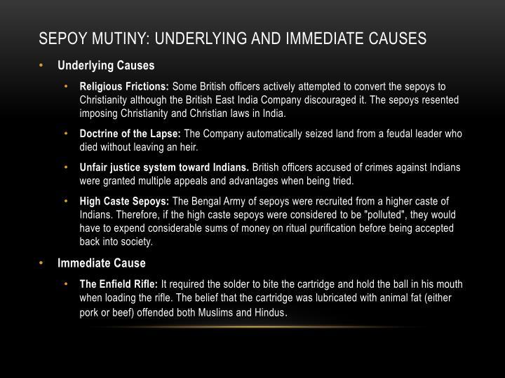 Sepoy Mutiny: