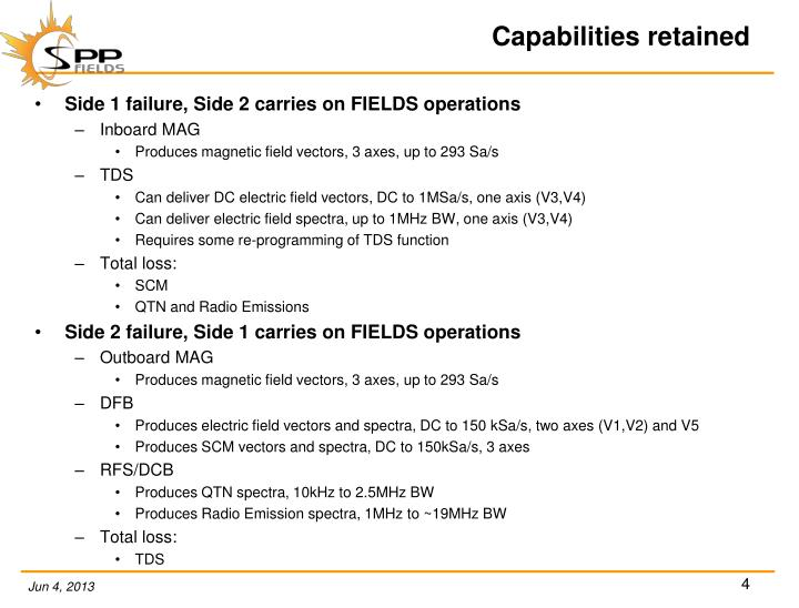 Capabilities retained