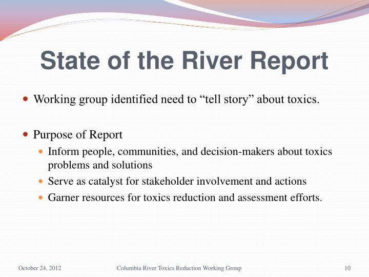 State of the River Report