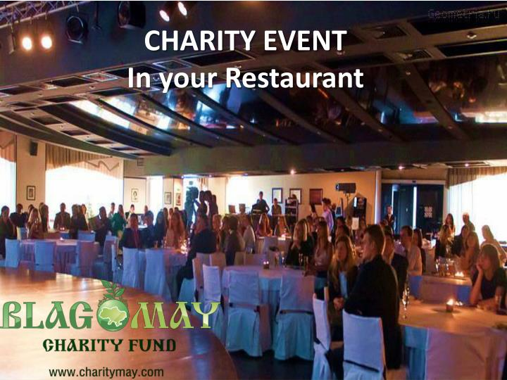 charity event in your restaurant n.