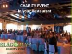 charity event in your restaurant