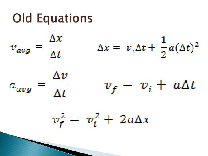 Old Equations