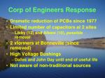 corp of engineers response