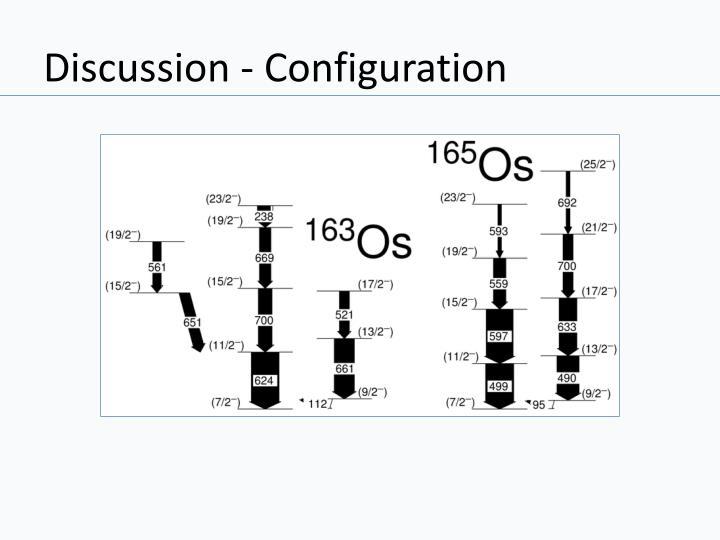 Discussion - Configuration