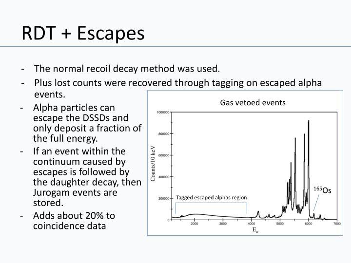 RDT + Escapes