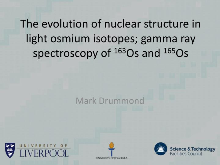 The evolution of nuclear structure in light osmium isotopes; gamma ray spectroscopy of