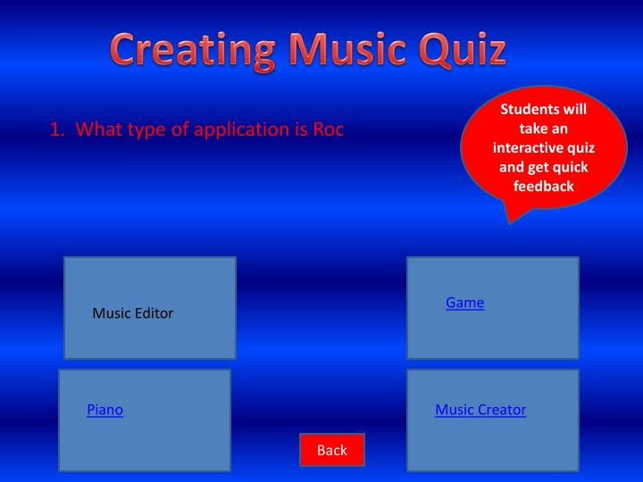 Creating Music Quiz