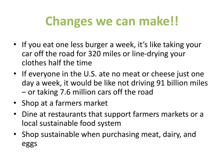 Changes we can make!!