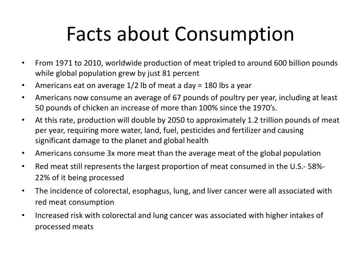 Facts about Consumption