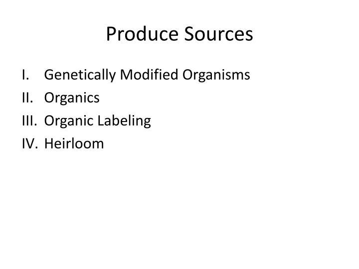 Produce Sources