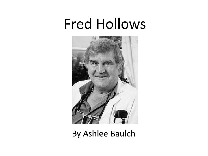 fred hollows n.