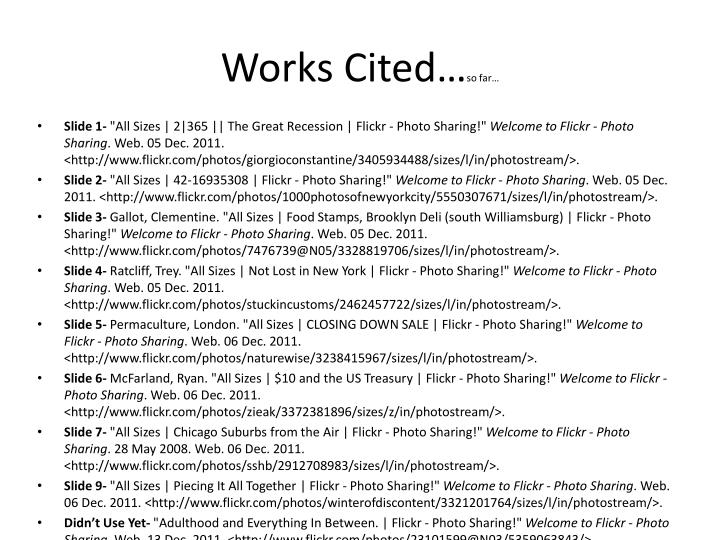 Works Cited…