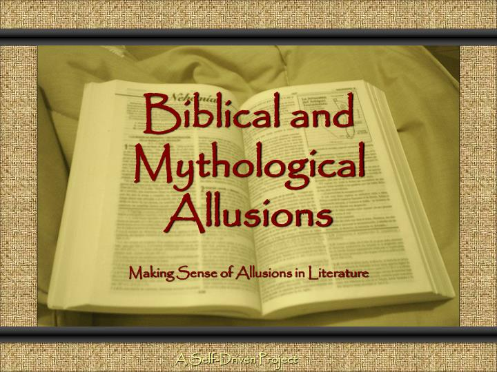 biblical and mythological allusions