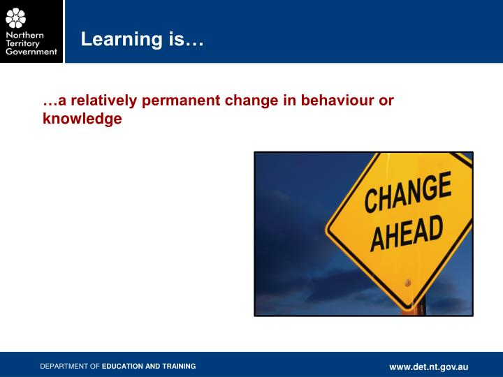 Learning is…