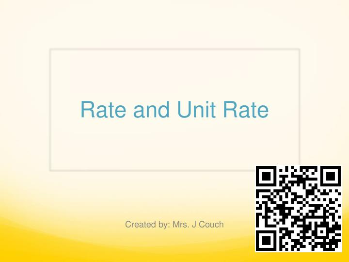 rate and unit rate n.