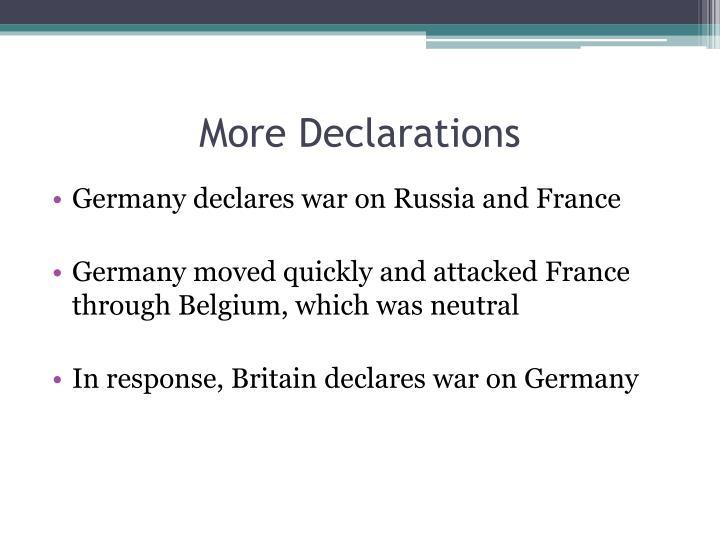 More Declarations
