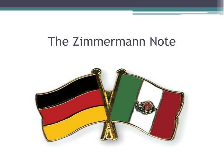 The Zimmermann Note