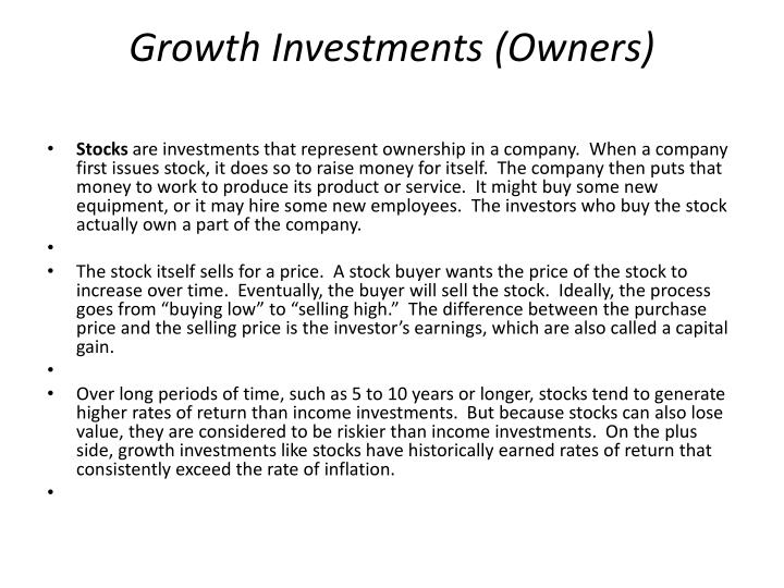 Growth Investments (Owners)