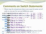 comments on switch statements4