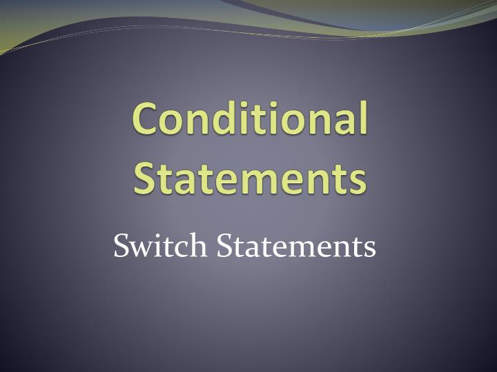 conditional statements n.
