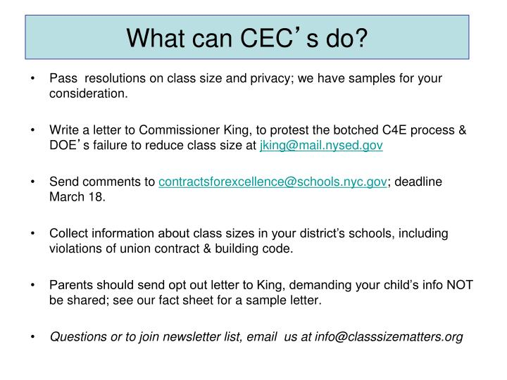 What can CEC