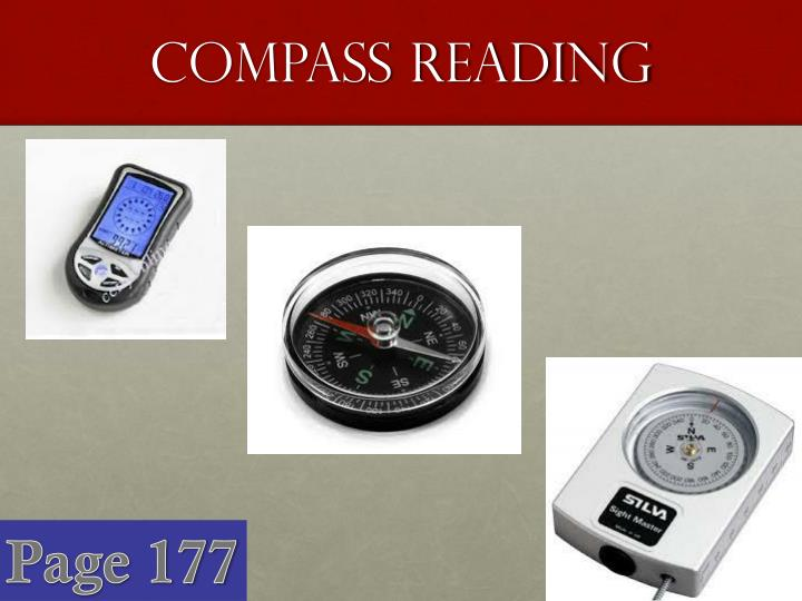 Compass reading