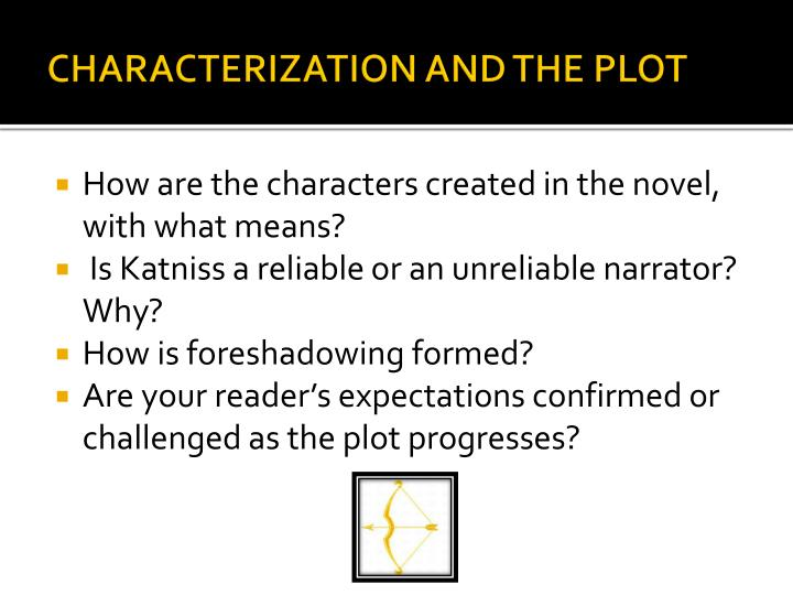 Characterization and the Plot