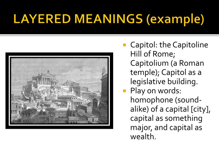 Layered meanings example