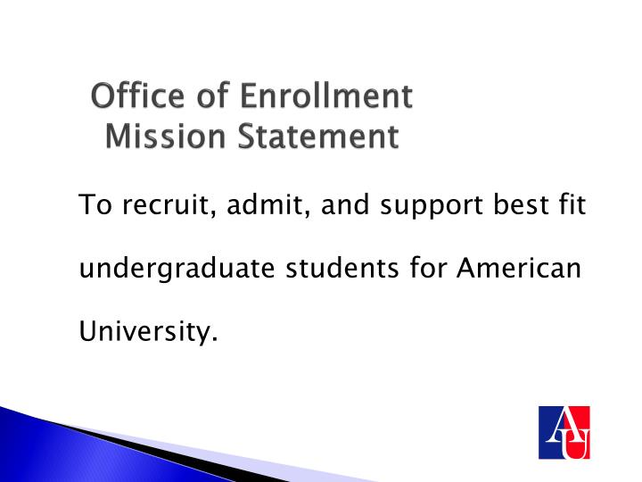 Office of enrollment mission statement