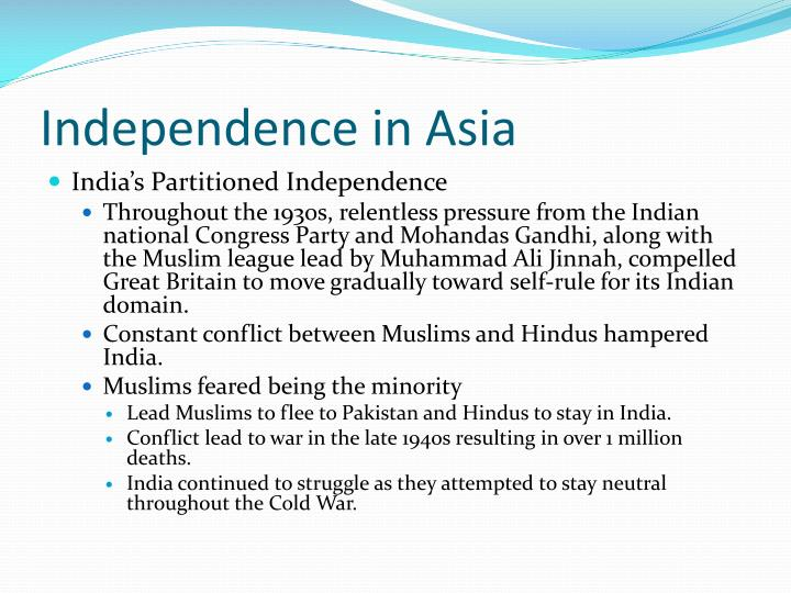 Independence in Asia