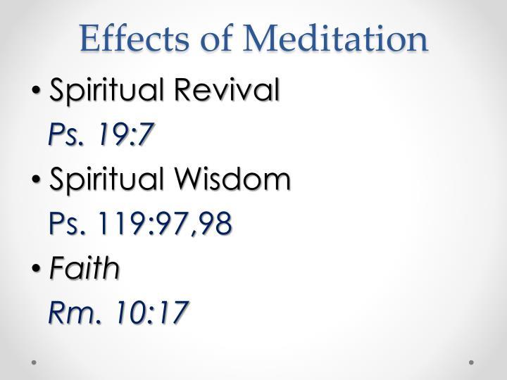 Effects of Meditation