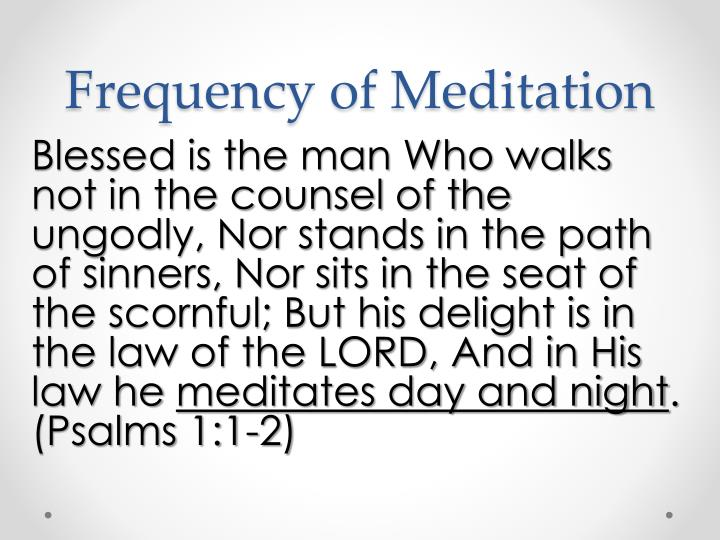 Frequency of Meditation