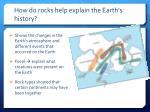 how do rocks help explain the earth s history