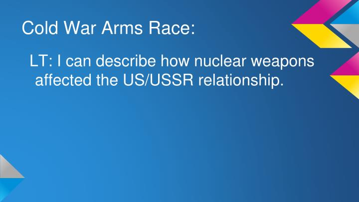 Cold War Arms Race: