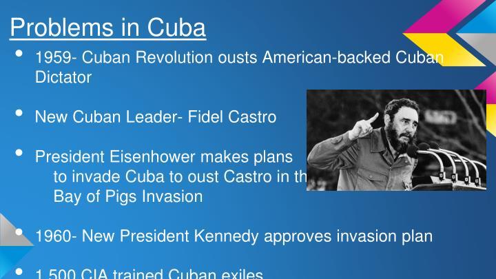 Problems in Cuba