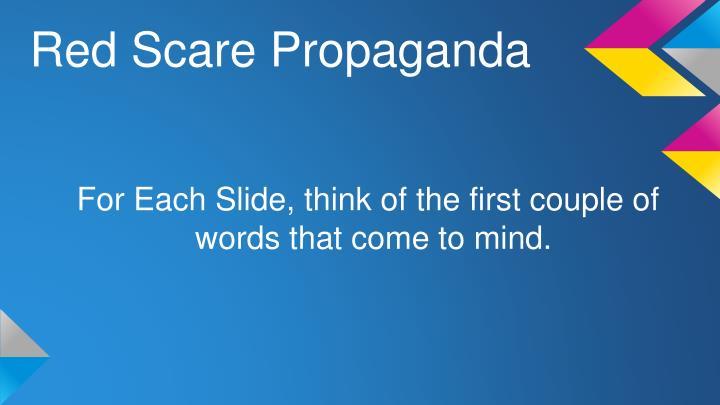 Red Scare Propaganda