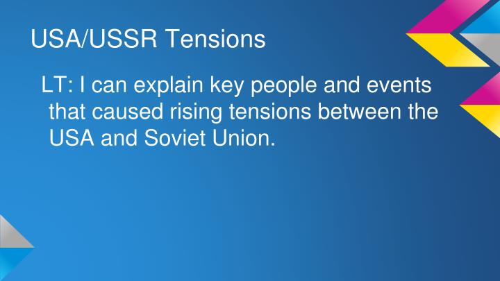 USA/USSR Tensions