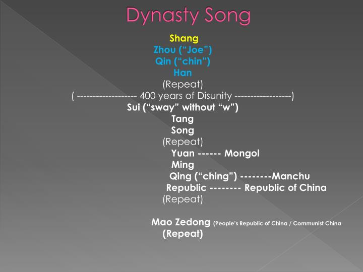 Dynasty song