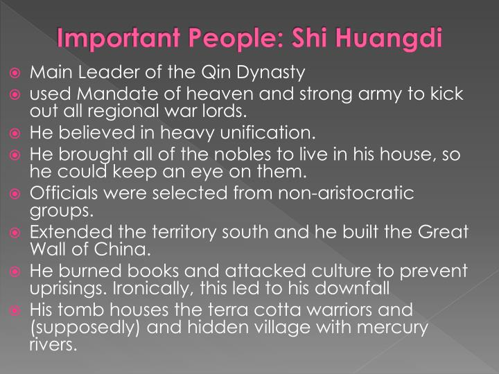 Important People: Shi