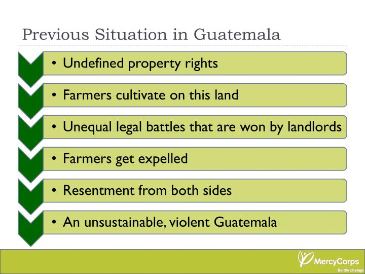 Previous Situation in Guatemala